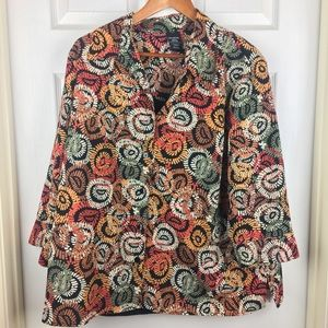 George Blouse with Faux Tank Top
